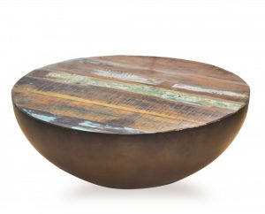 Ronde Tafel Sloophout.Tafel Robuust Gerecycled Bruin Hout